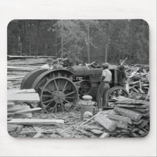 Old Sawmill Tractor, 1935 Mouse Pad