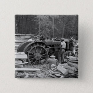 Old Sawmill Tractor, 1935 Pinback Button
