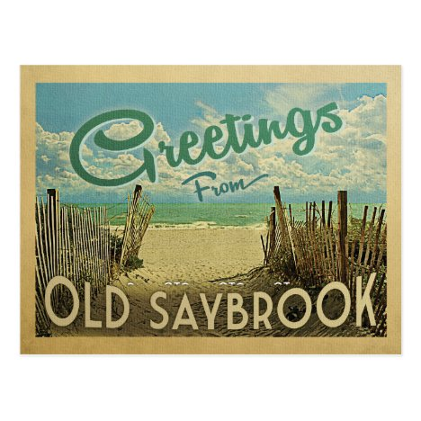 Old Saybrook Beach Vintage Travel Postcard