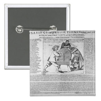Old Sayings and Predictions 2 Inch Square Button