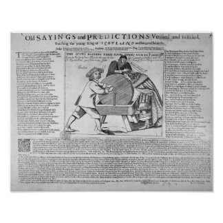 Old Sayings and Predictions Poster