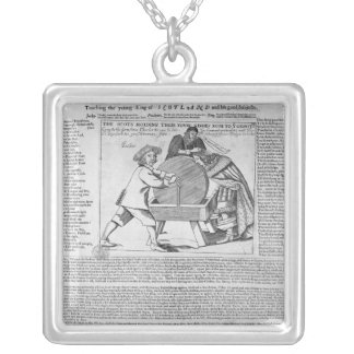 Old Sayings and Predictions Silver Plated Necklace