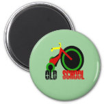 Old School 2 Inch Round Magnet