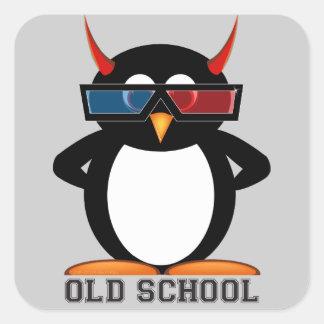 Old School 3D Evil Penguin™ Stickers