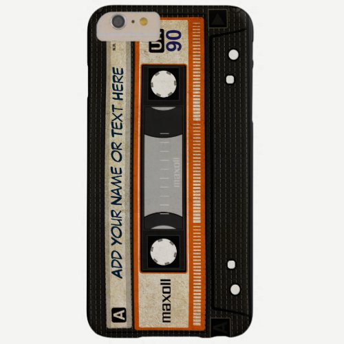 Old School 80s DJ Music Cassette Tape Pattern Barely There iPhone 6 Plus Case
