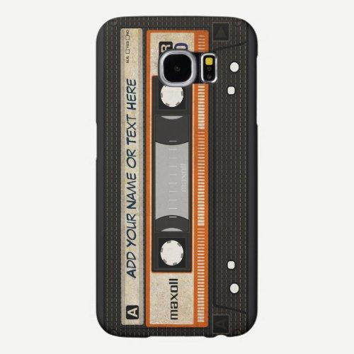 Old School 80s DJ Music Cassette Tape Pattern Samsung Galaxy S6 Case