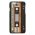 Old School 80s DJ Music Cassette Tape Pattern Glossy iPhone 6 Case
