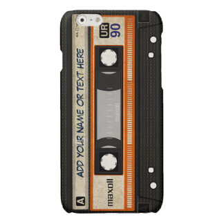 Old School 80s DJ Music Cassette Tape Pattern Glossy iPhone 6 Case