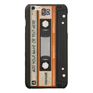 Old School 80s DJ Music Cassette Tape Pattern Glossy iPhone 6 Plus Case