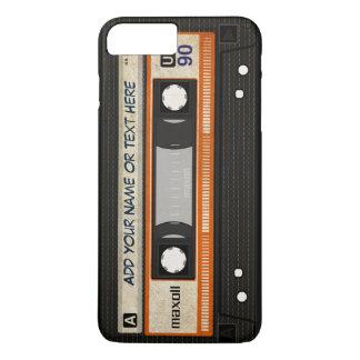 Old School 80s DJ Music Cassette Tape Pattern iPhone 7 Plus Case
