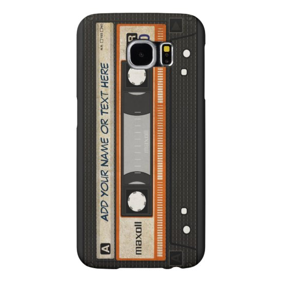 Old School 80s DJ Music Cassette Tape Pattern Samsung Galaxy S6 Case