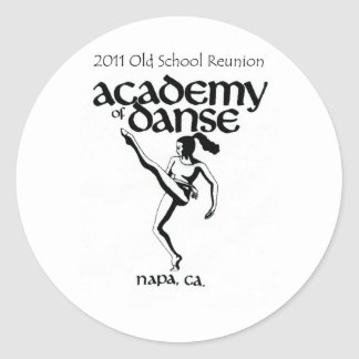 Old School Academy of Dance Reunion 2011 Classic Round Sticker