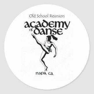 Old School Academy of Dance Reunion Classic Round Sticker