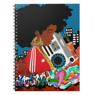 Old School Afro Girl Notebook