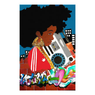 Old School Afro Girl Stationery