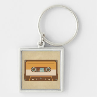 Old School Analog Cassette Tape Keychain