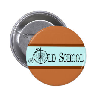 Old School Bicycle Penny Farthing 2 Inch Round Button