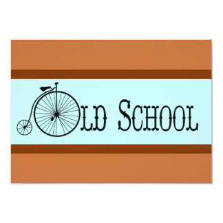 Old School Bicycle Penny Farthing 5x7 Paper Invitation Card