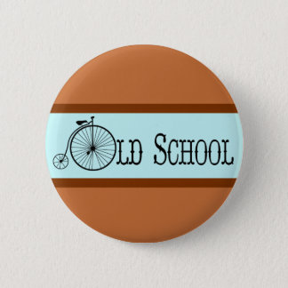 Old School Bicycle Penny Farthing Pinback Button