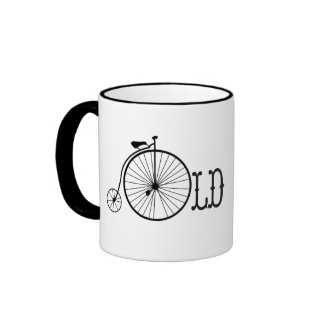 Old School Bicycle Penny Farthing Ringer Coffee Mug