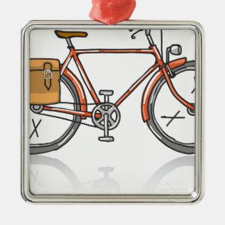 Old School Bicycle Sketch Metal Ornament