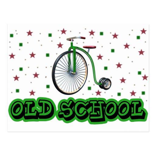 Old School Big Wheel Postcard