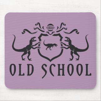 Old School Black Design Mouse Pad