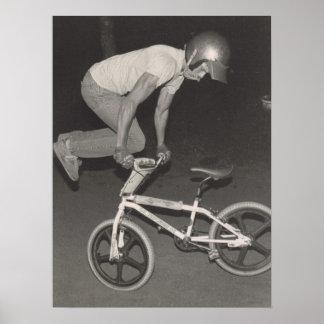 Old school BMX freestyle rider, 1986 Poster