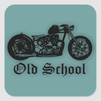 Old School Bobber Square Sticker