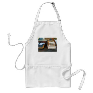 Old School Books and Slate Adult Apron