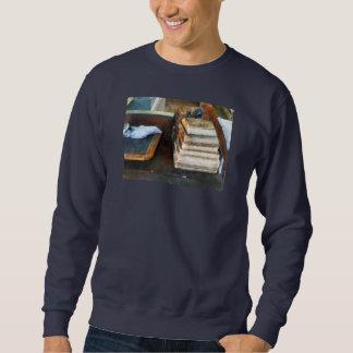 Old School Books and Slate Sweatshirt