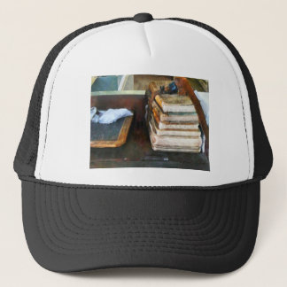 Old School Books and Slate Trucker Hat