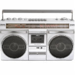 "Old School Boombox Radio Cutout<br><div class=""desc"">Makes a cool gift for music lovers. Easy to customize.</div>"