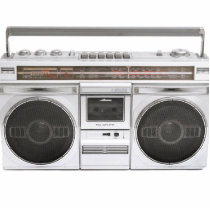 Old School Boombox Radio Cutout