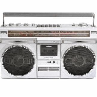 Old School Boombox Radio Cutout