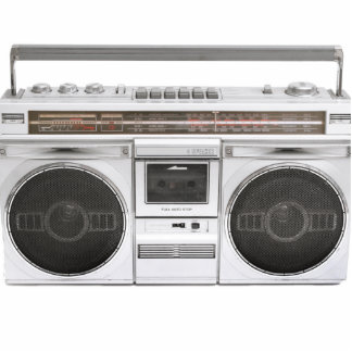 Old School Boombox Radio Acrylic Cut Out