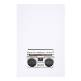 Old School Boombox Radio Stationery