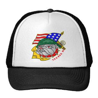 Old School Bulldog Flag Semper Fi Trucker Hats