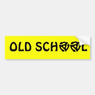 Old School Bumper Sticker