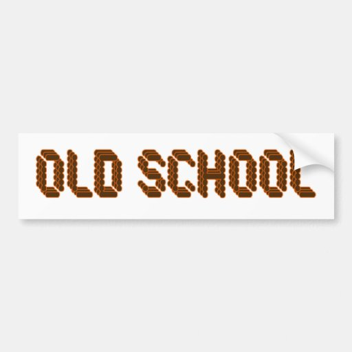 Old School Car Bumper Sticker