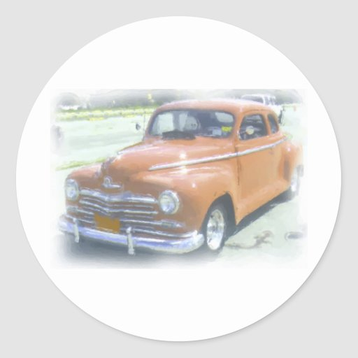 Old school car painting round stickers zazzle for Car painting school