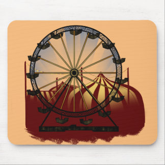 Old School Carnival Ferris Wheel Mouse Pad