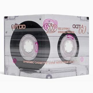 Old school cassette tape 3 ring binders