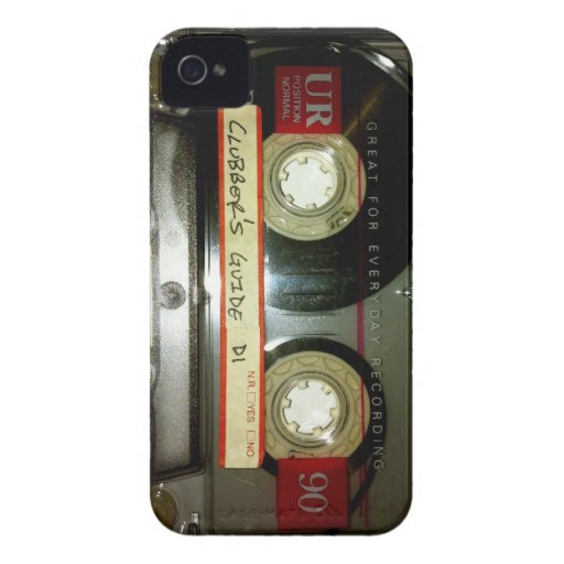 Old School Cassette Tape iPhone 4 Cover
