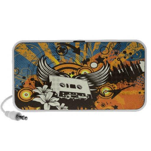 old school cassette tape music bliss vector art iPod speaker