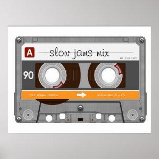 Old School Cassette Tape Poster