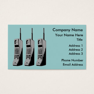 Old School Cell Phones Business Card