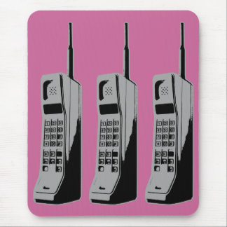 Old School Cell Phones Mouse Pad
