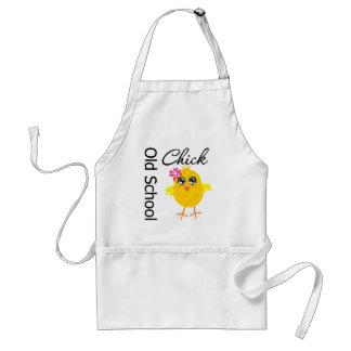 Old School Chick Adult Apron