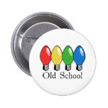 Old School Christmas Tree Lights 2 Inch Round Button